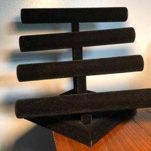 Storage & Organization - Black Velvet Jewelry Display T-Bar 4 Tier